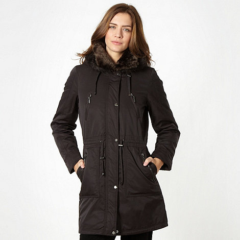 Maine New England - Chocolate faux fur collar parka jacket