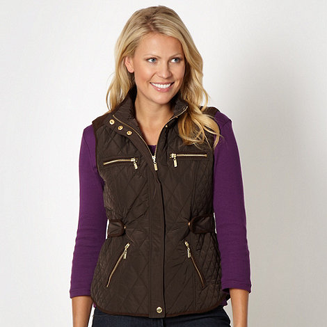Maine New England - Brown quilted gilet