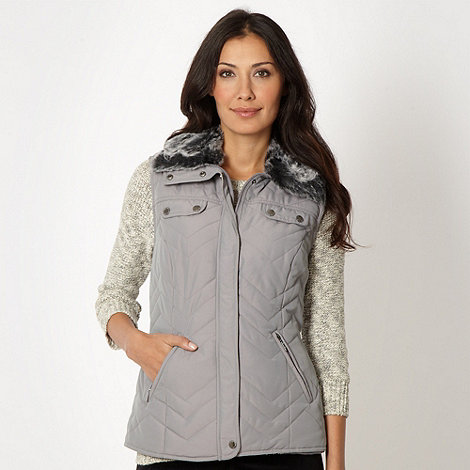 Maine New England - Silver chevron quilted gilet
