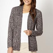 Grey tweed edge to edge cardigan