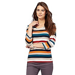 Maine New England - Multi-coloured striped top