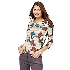 Maine New England - Natural leaf print top