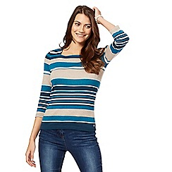 Maine New England - Turquoise striped top