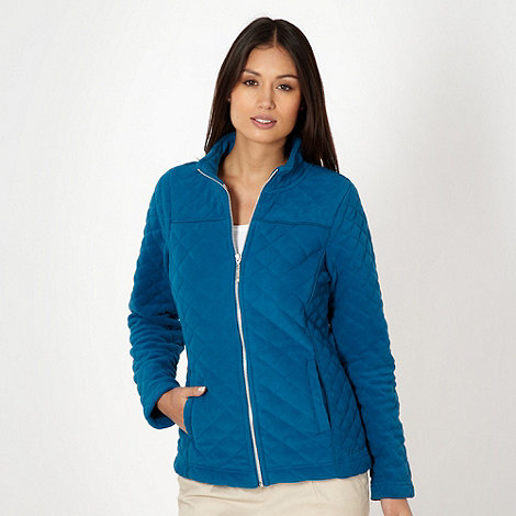 Maine New England - Turquoise quilted fleece jacket