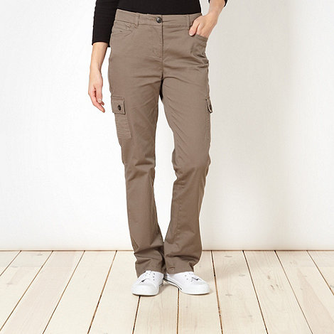 Maine New England - Taupe twill trousers