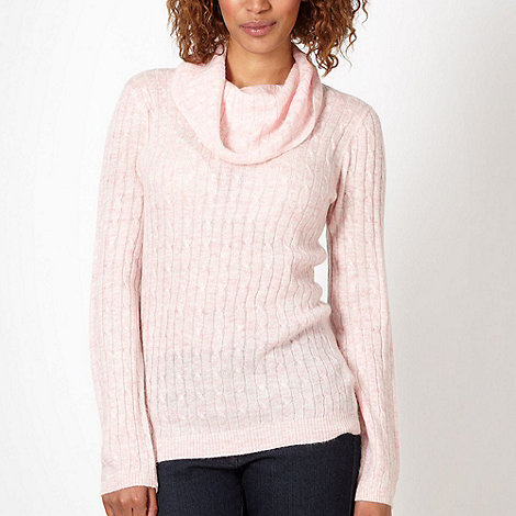 Maine New England - Light pink cable knit jumper