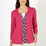 Dark pink 2 in 1 leaf top