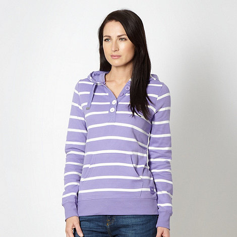Maine New England - Lilac striped sweat hoodie