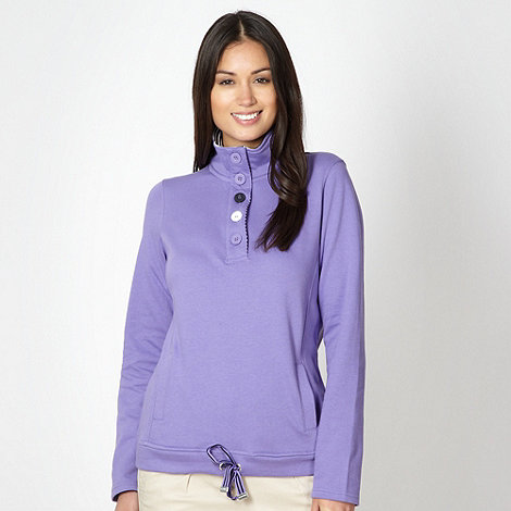 Maine New England - Lilac half button neck sweat top
