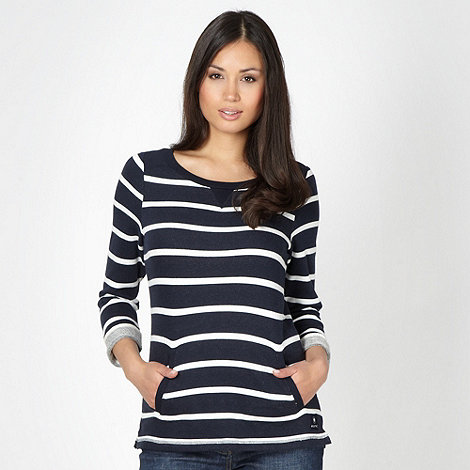 Maine New England - Navy striped sweat top