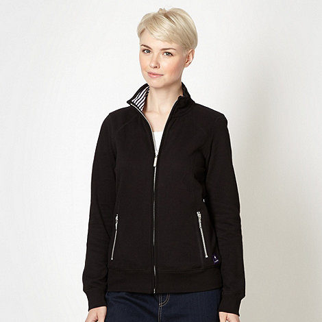 Maine New England - Black zip through sweat top