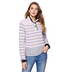 Maine New England - Light pink striped sweatshirt