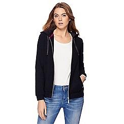 Maine New England - Black velour hoodie