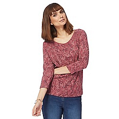 Maine New England - Mauve leaf print top