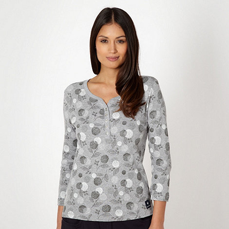 Maine New England - Grey dandelion print top