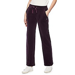 Maine New England - Dark purple velour jogging bottoms