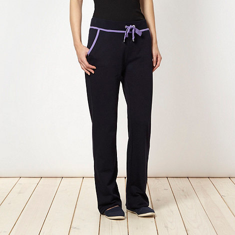 Maine New England - Navy contrast trim jogging bottoms