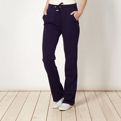 Maine New England - Dark purple contrast trim jogging bottoms