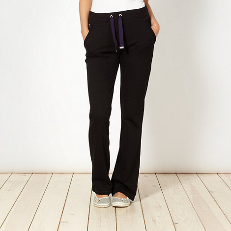 Maine New England - Black rib waist jogging bottoms