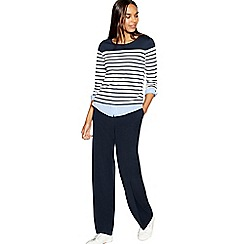Maine New England - Navy straight leg Pablo trousers