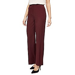 Maine New England - Dark purple 'Pablo' straight leg trousers