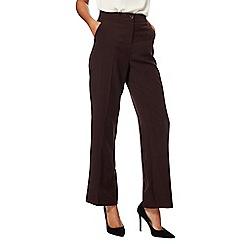 Maine New England - Dark brown straight leg pablo trousers