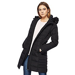 Maine New England - Black faux fur coat