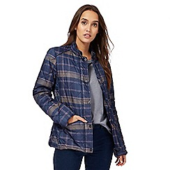 Maine New England - Navy quilted check jacket