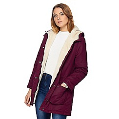 Maine New England - Faux fur lined coat