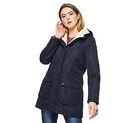 Maine New England - Navy faux fur lined coat