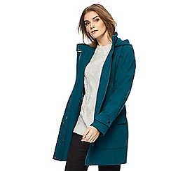 Maine New England - Turquoise duffle coat with wool
