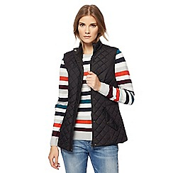 Maine New England - Black quilted gilet