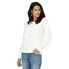 Maine New England - Ivory two pocket cardigan