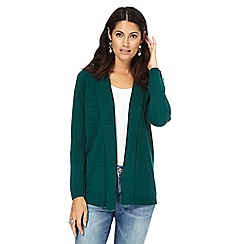 Maine New England - Dark green textured striped cardigan