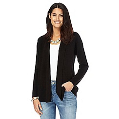 Maine New England - Black textured striped cardigan