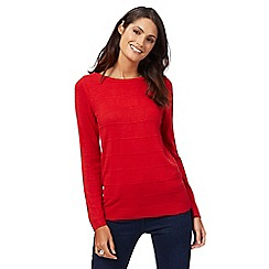 Maine New England - Red ripple stitch jumper