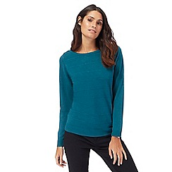 Maine New England - Turquoise ripple stitch jumper