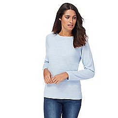 Maine New England - Light blue ripple stitch jumper