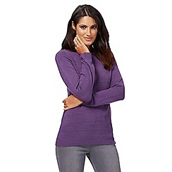 Maine New England - Purple ripple stitch jumper