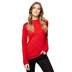 Maine New England - Red turtle neck jumper