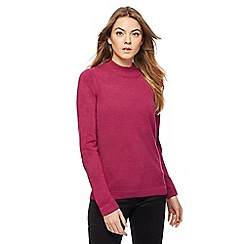 Maine New England - Dark pink turtle neck jumper