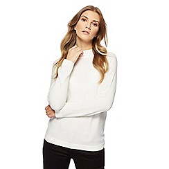 Maine New England - White turtle neck jumper