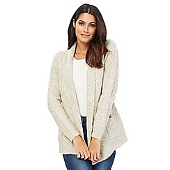 Maine New England - Ivory textured cardigan