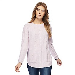 Maine New England - Lilac cable knit twist yarn jumper