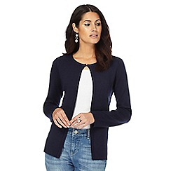 Maine New England - Navy double faced cardigan