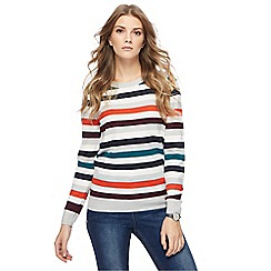 Maine New England - Multi-coloured striped jumper