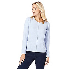 Maine New England - Light blue pearl button cardigan