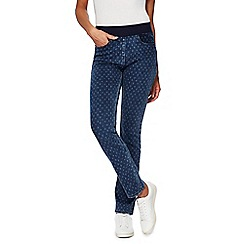 Maine New England - Mid blue floral print jeggings