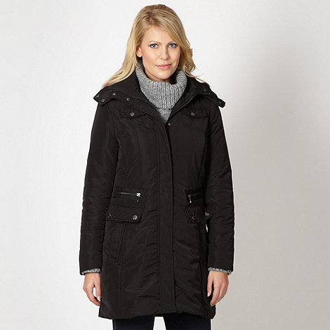 Maine New England - Black longer length parka