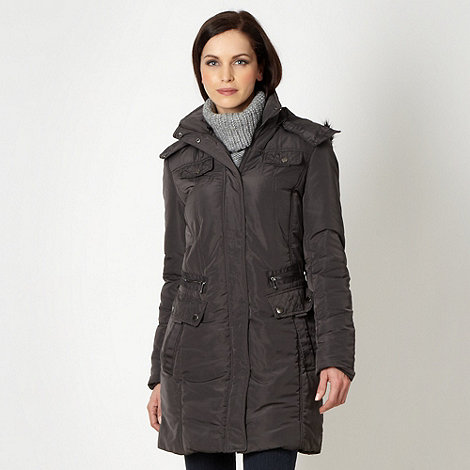 Maine New England - Grey long length parka jacket